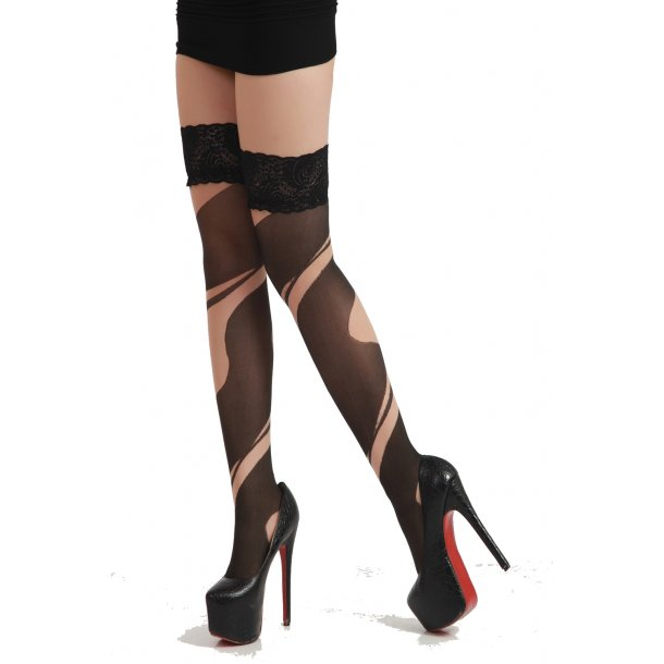 Black Nude Stayup Stockings