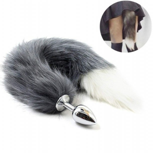 Fox Tail Anal Plug Stainless Steel Metal Butt Plug