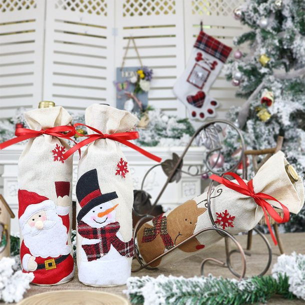 Santa Claus Red Wine Bag