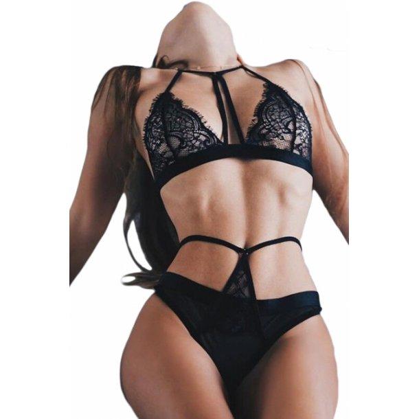 2pcs black lingerie set