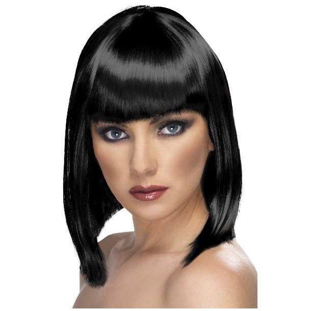 Black page wig