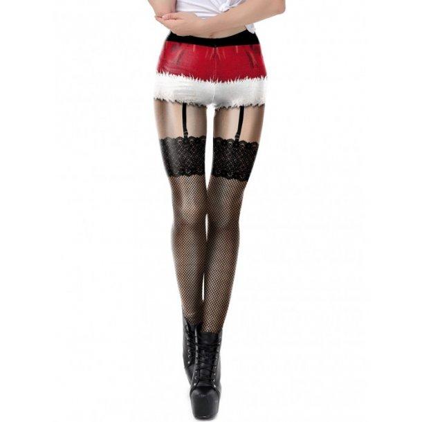 Xmas 3D Printed Leggings High Rise Ladies Grace
