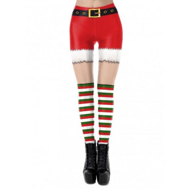 Christmas Leggings High Waist Stripe Soft
