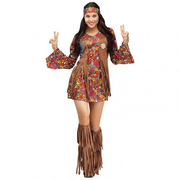 1960's Hippie Hottie Fancy Dress Costume