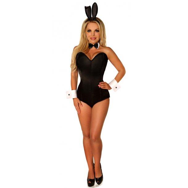 Sexy Tuxedo Bunny Corset Costume