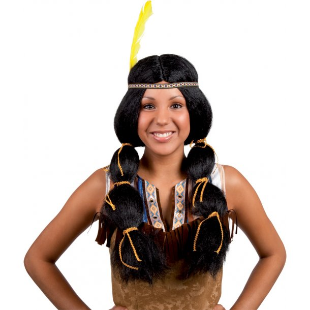 Native American Wig with headband + feather