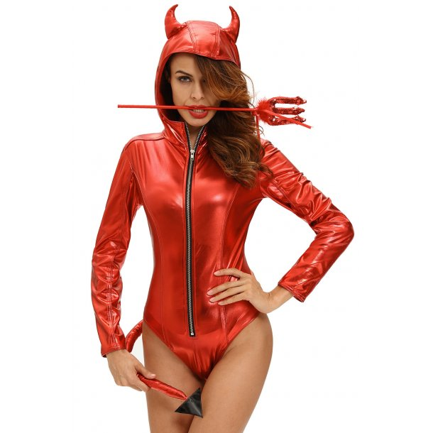 Devil costume with long tail