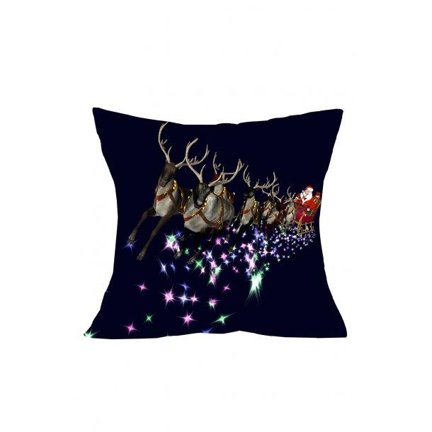 Christmas Santa Flying Pillow Cover