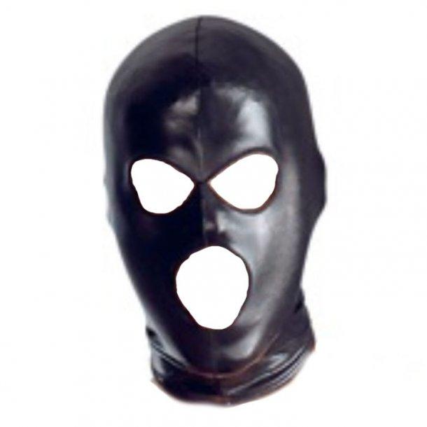 3 Holes Head Mask Black