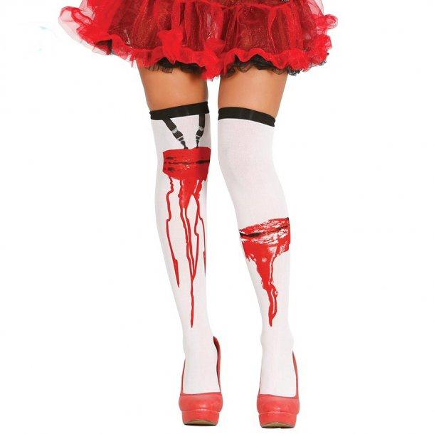 3cb203e9b87 Zombie Strømper - Selvsiddende Strømper - Fie's Kostumer og udklædning
